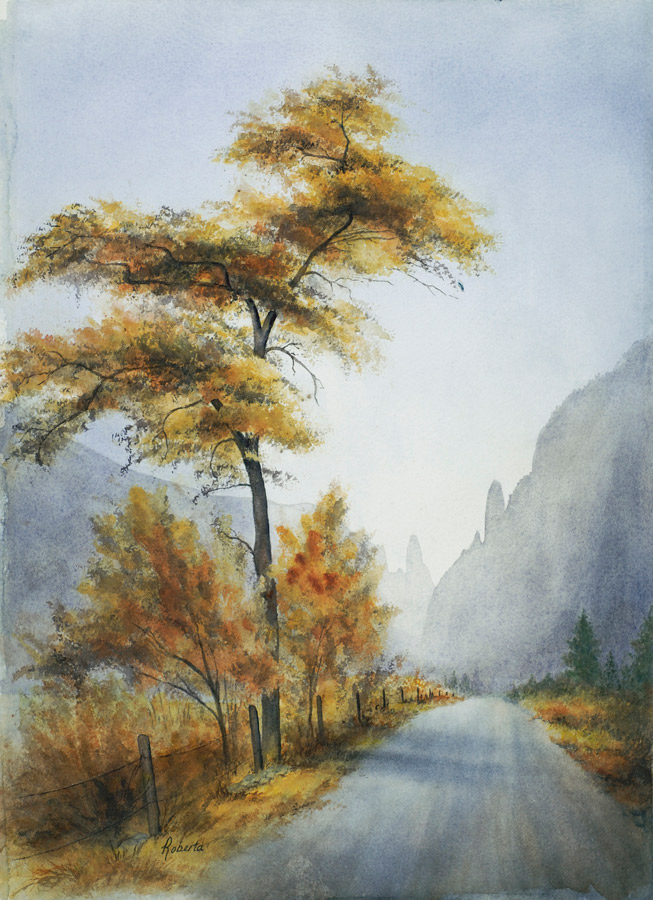 Mill Creek Canyon Watercolor Painting by Roberta Burruss